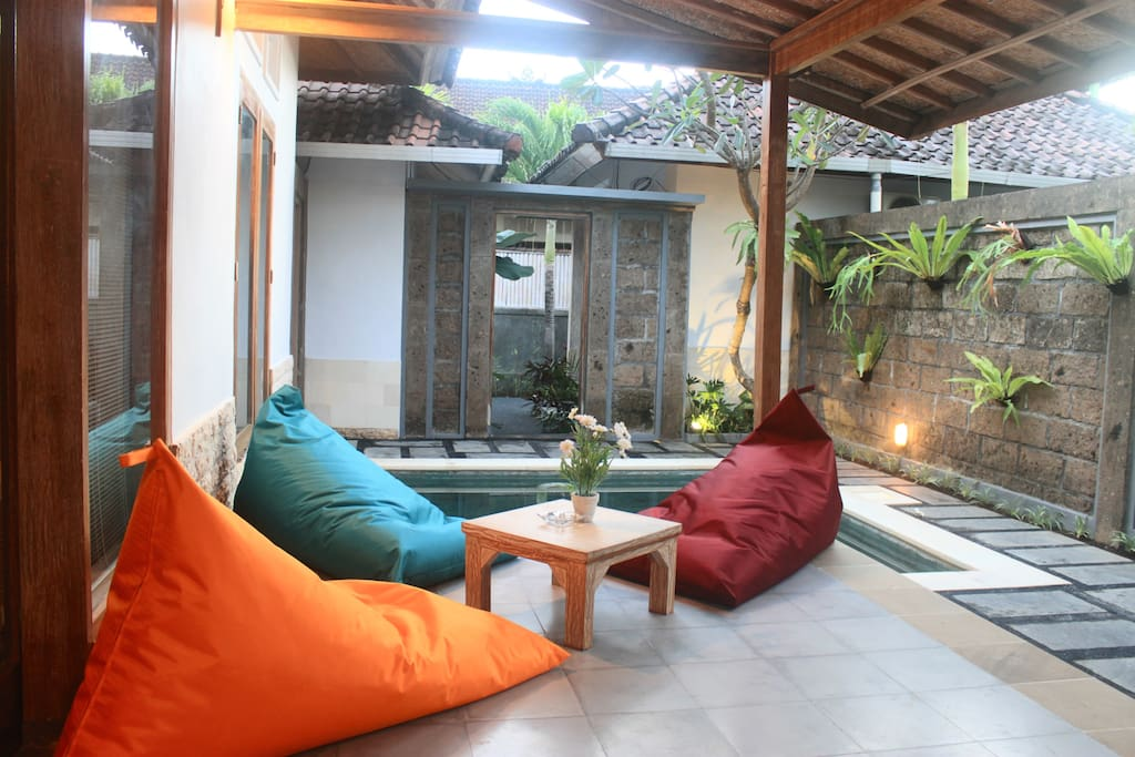 A relaxing and comfortable sitting area with your beloved family