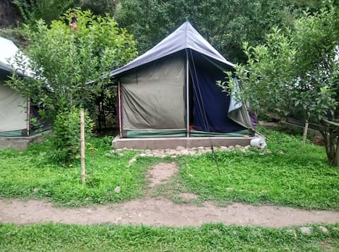 tent stay@ tirthan valley including B/F & dinner