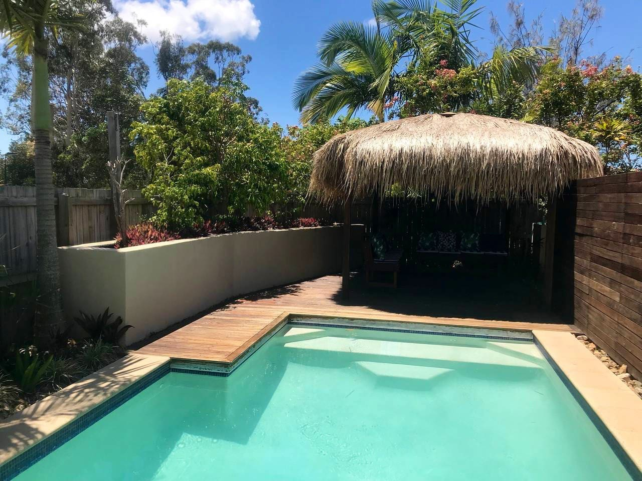 Pool and Bali hut