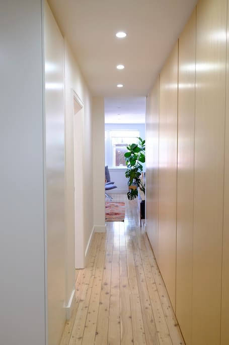 hall storage, laundry, entrance to 2nd room