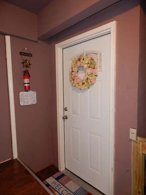 Your door to your studio located in a common area for others as well as our guests