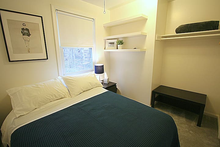 #2 safe, quite room, walk to metro & free parking