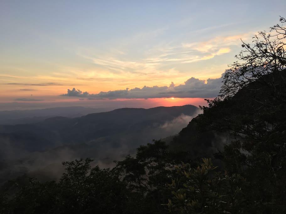 Puesta del sol, Mirador de San Luis