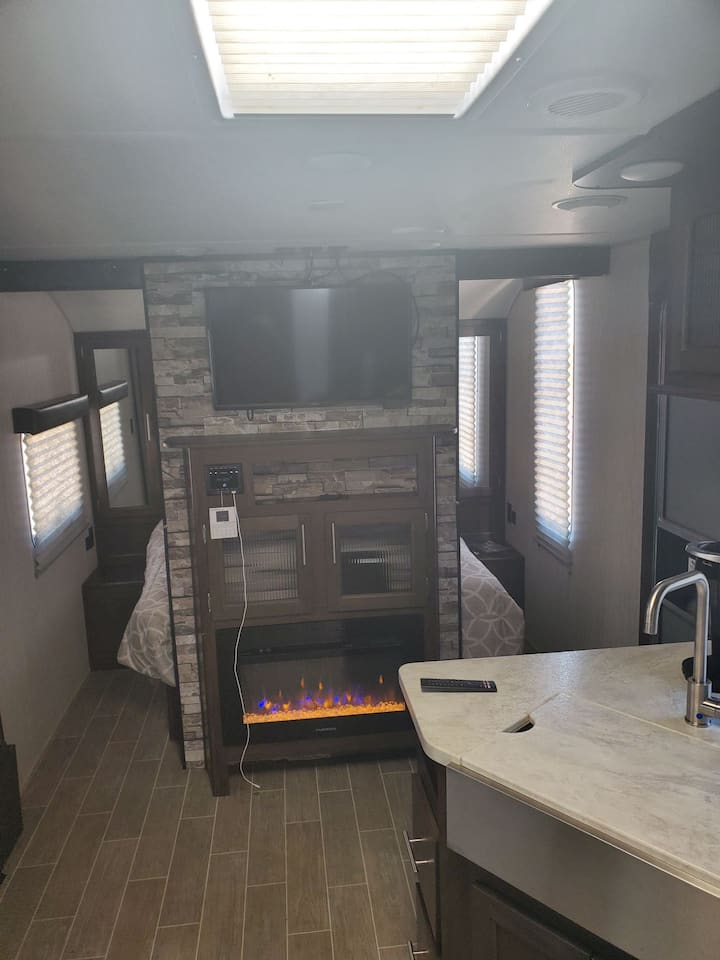 Nice 32 ft RV in a quiet location.