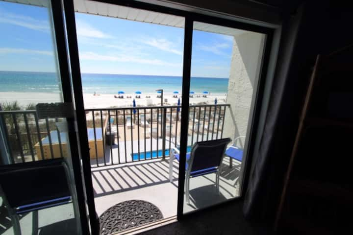 1BR Gulf-front Condo; Sleep 6; Pool on Beach-203