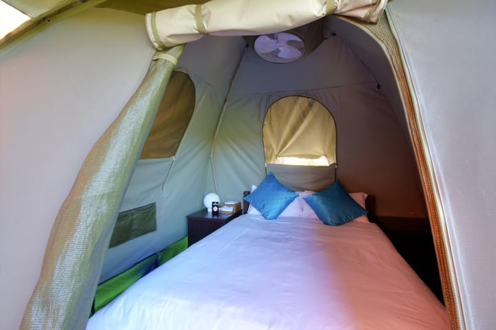 Luxury double dome tent