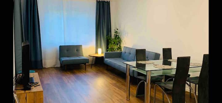 2 Zi Apartment, Erdgeschoss, Tiefgaragenparkplatz