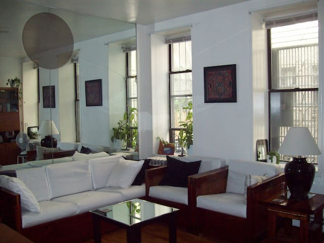 Spacious, rare private courtyard - New York - Apartment