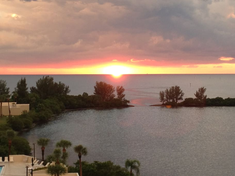 Watch the glorious sunsets from the balcony of this 6th floor stunning condo.