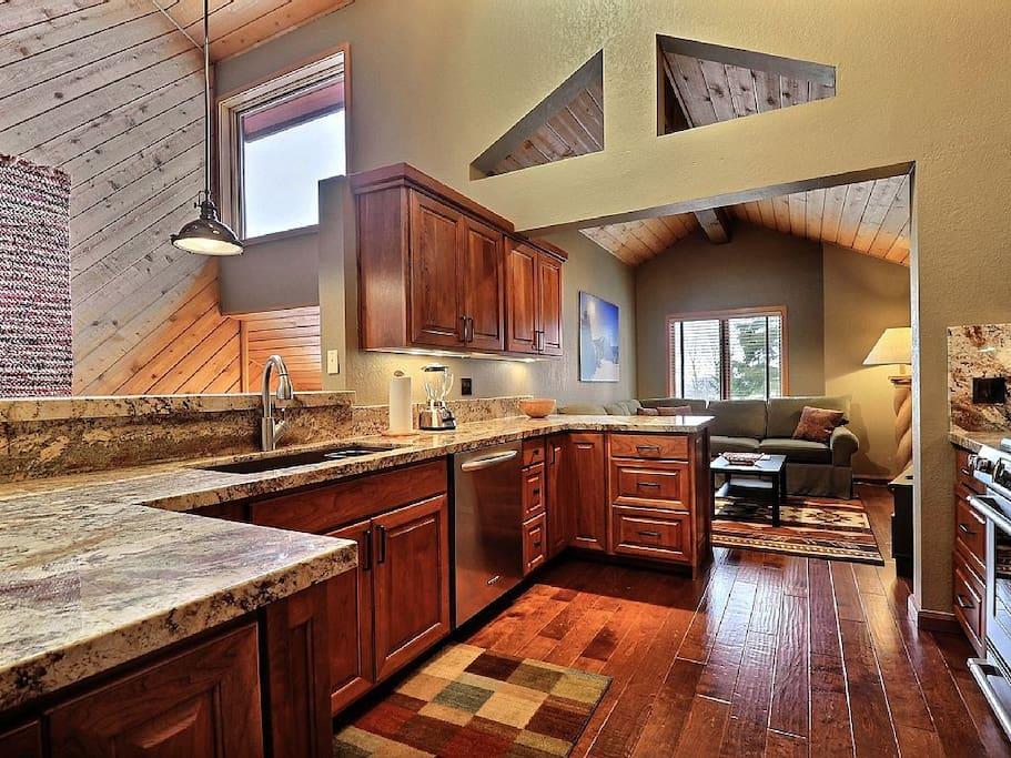 Gourmet Kitchen with Custom Copper Range Hood