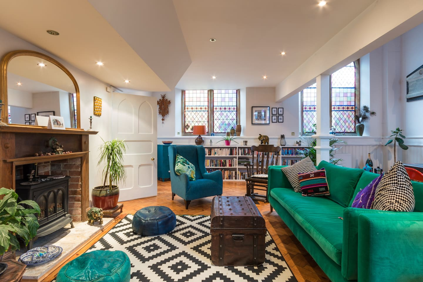 5 stunning double bedrooms, TV room, huge kitchen with all mod cons and chapel sitting room with original features including 10ft stained glass windows