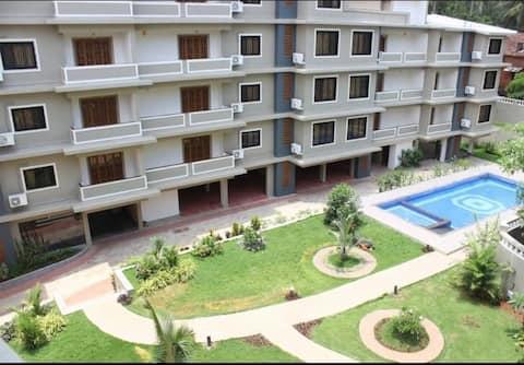 1bhk luxuryapartment with pool near baga Calangute