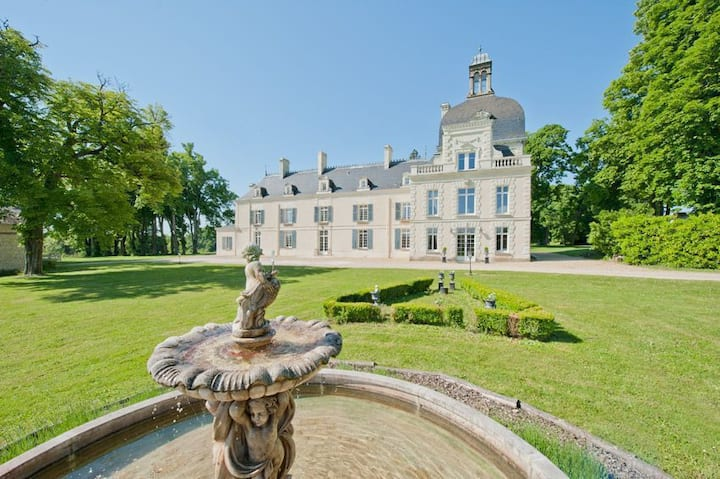 Loire Valley Luxury Chateau with stunning 20m pool