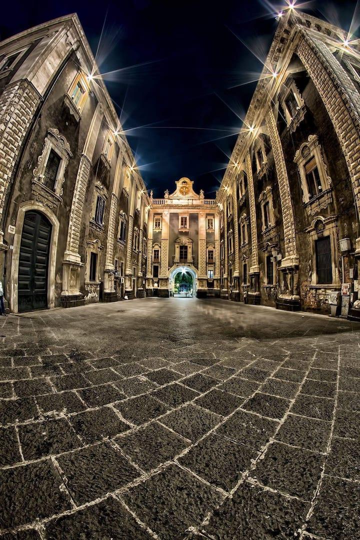 Inside the Duomo of Catania