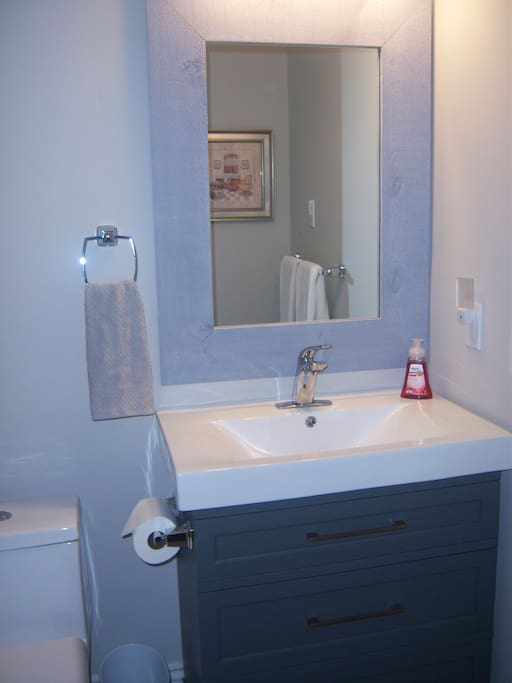 Ensuite Bathroom from Bedroom 1 with Tub and Shower