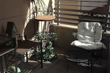 Shared patio