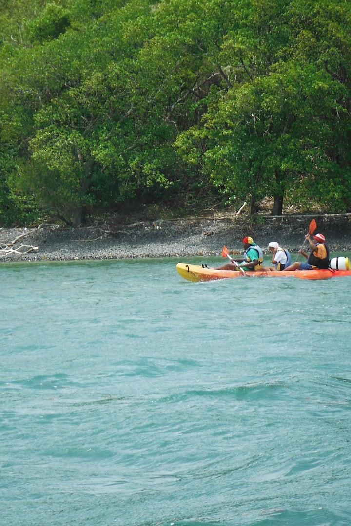 Naviguer le long de l'Îlet