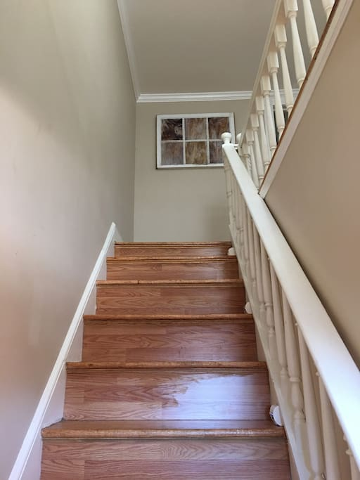 Up stairs to your guest suite
