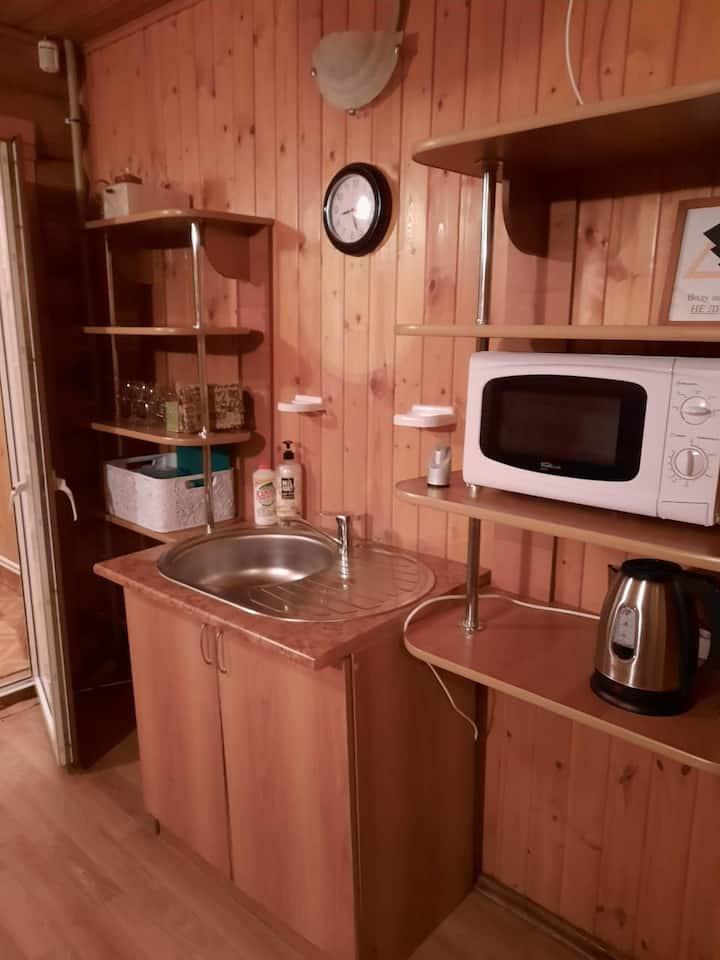Уютный домик-баня из бруса