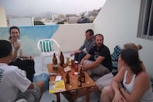 Party on the roof terrace