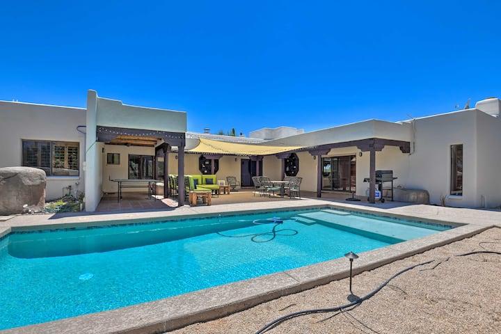 NEW! Luxury Adobe Villa: Pool, Patio, Paradise!