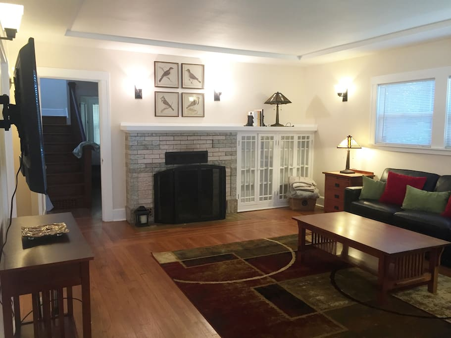 Living room with gas fireplace for those cozy evenings