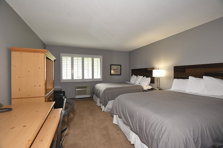 Newly Remodeled King Conf. Center-Two double bed