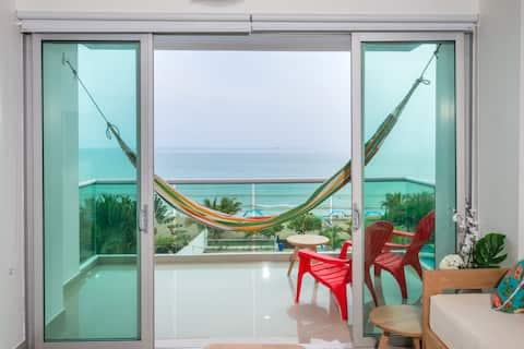 Magico Apartamento Frente al Mar 3 Habitaciones