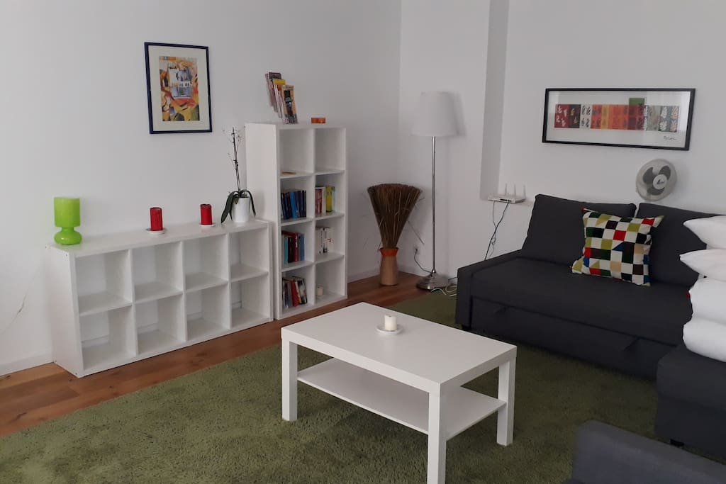 Zimmer oben mit Schlafsofa - upstairs room with sofa bed