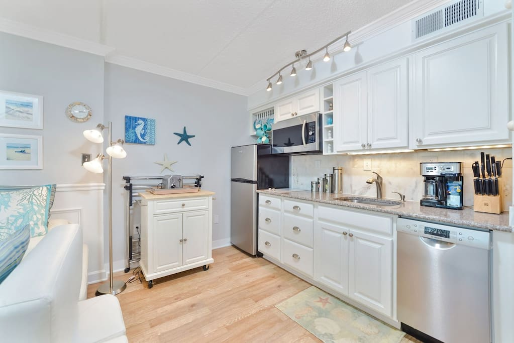 Kitchen Area with Stainless Appliances