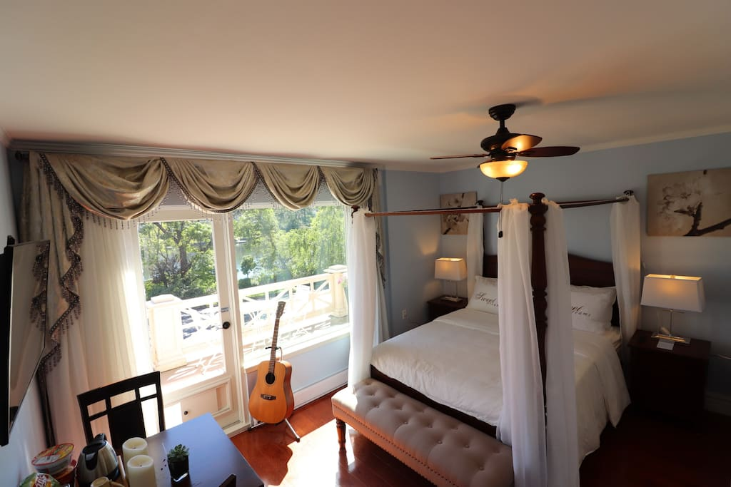 The Lily Room is beautifully appointed and is very inviting.
