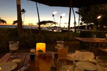 Sunset Mai Tais and Pupus from the outdoor Patio at Roy's