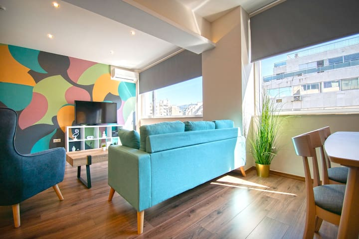 Abstract Flat With Urban View
