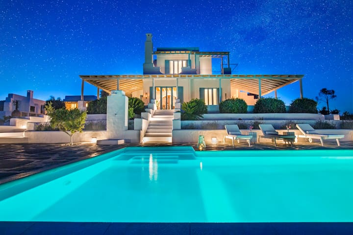 Breathtaking View Luxury Villa 5min from the beach - Lachania