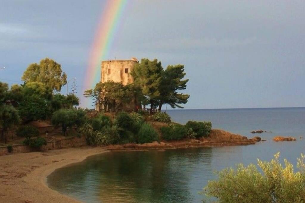 torre saracena spiaggia di santa maria navarrese