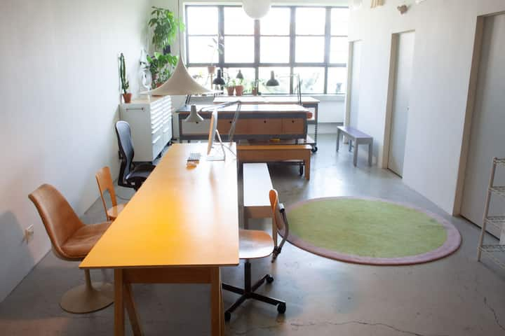 Egill's live/work space in the heart of Bushwick.
