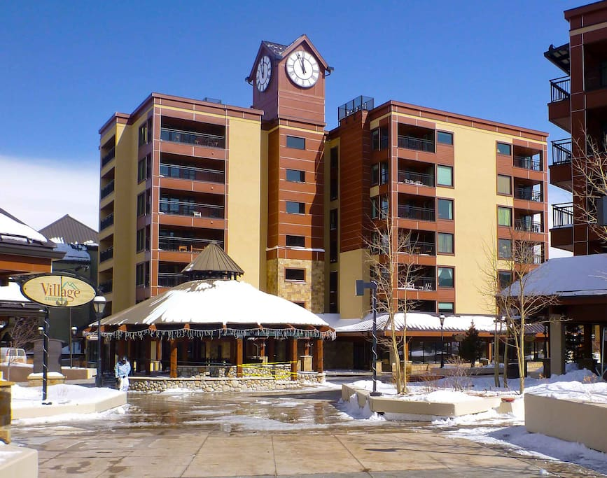 Stay in the iconic clock tower building of the Village at Breckenridge