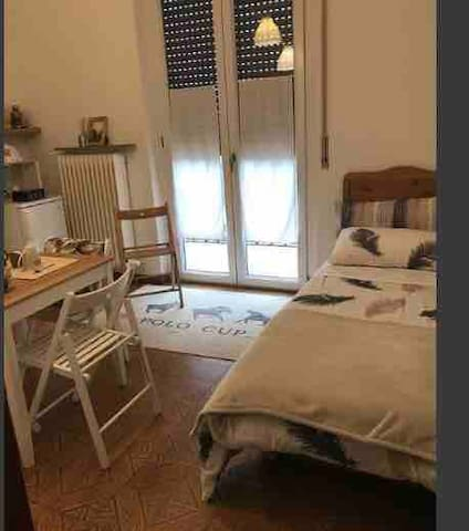 """Single bed in second room of """"lattemiele"""""""