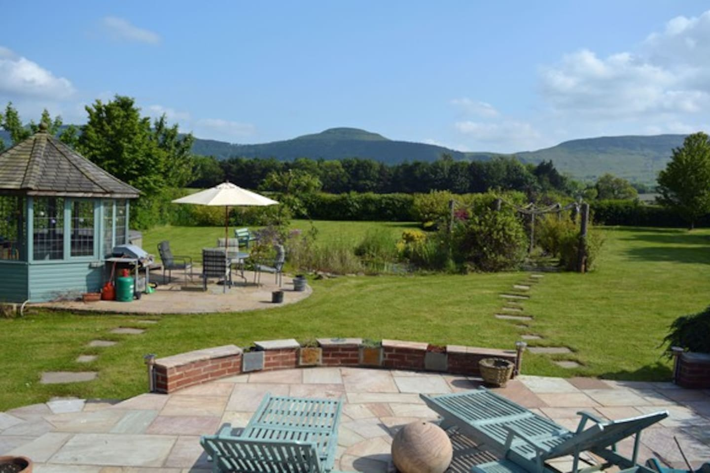 View from front of house to Cleveland Hills