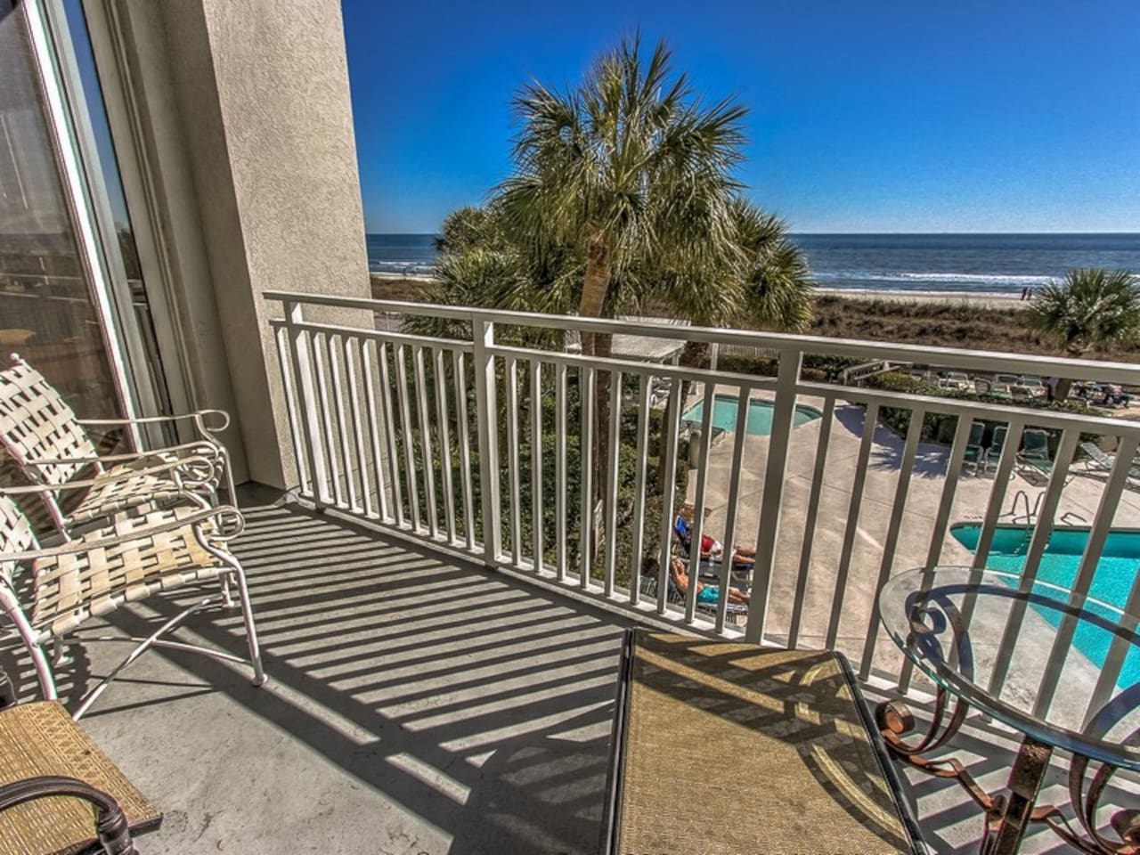 Main Balcony off Master Bedroom and Living Room at 3203 Sea Crest
