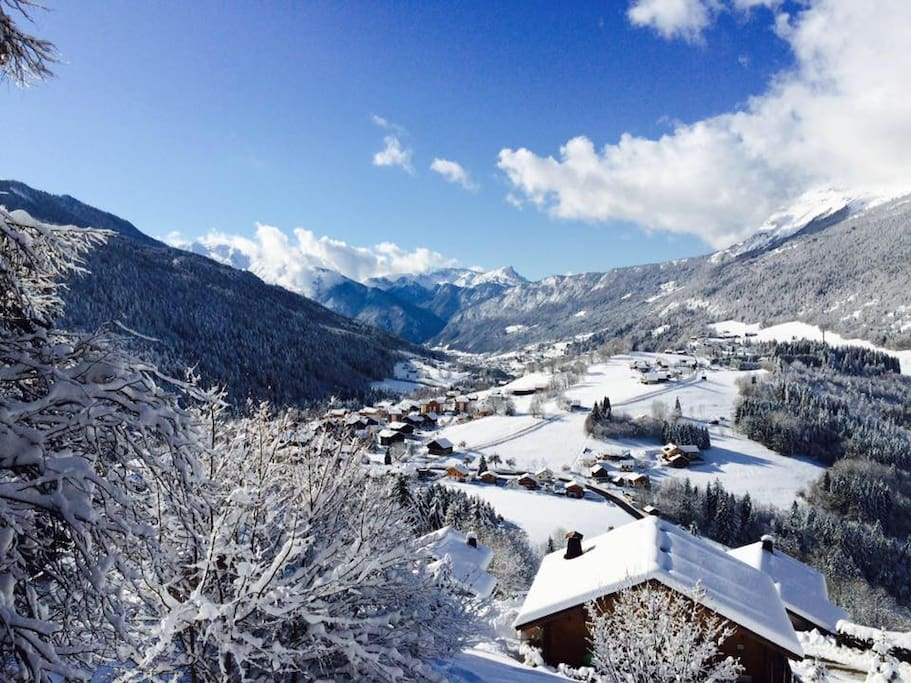 Spectacular view from the chalet in the winter months