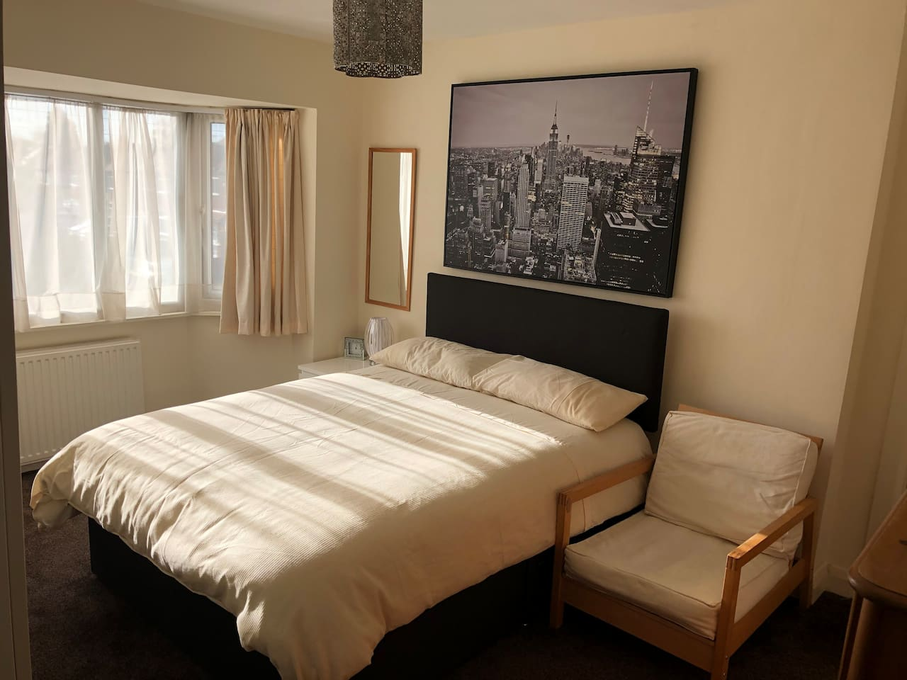 Very large double room king size bed