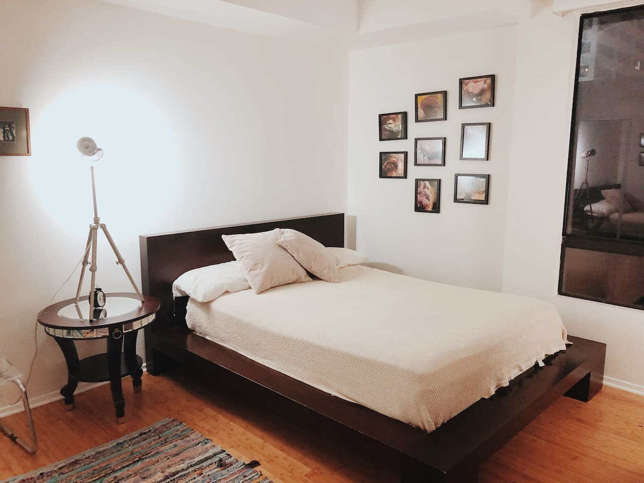 Your bedroom: Queen size bed