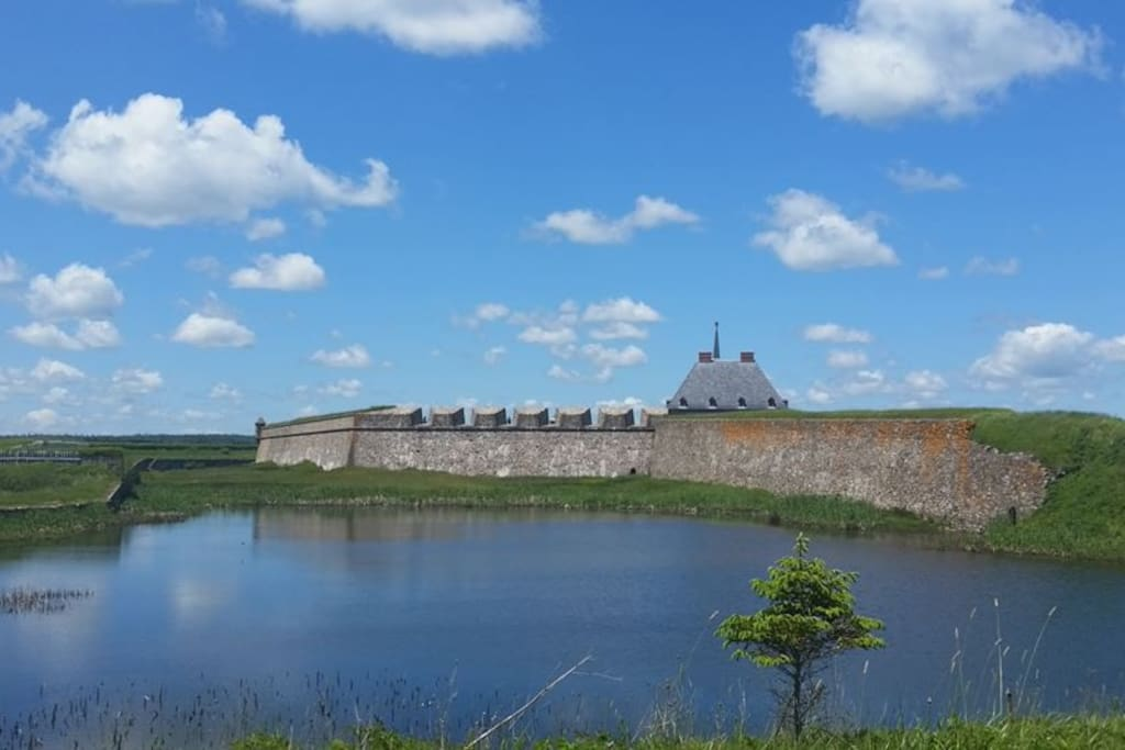 Back of Fortress Louisbourg