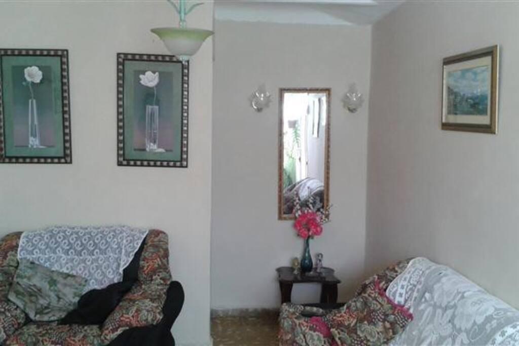 Sala de estar con comodos muebles