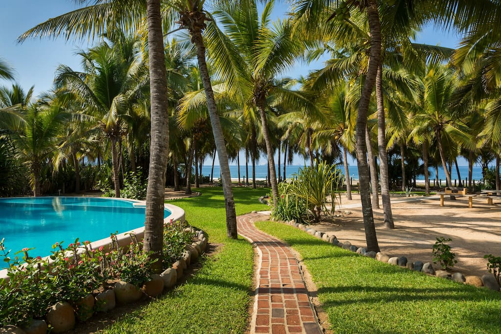 Our private pathway to pristine Playa Blanca Beach