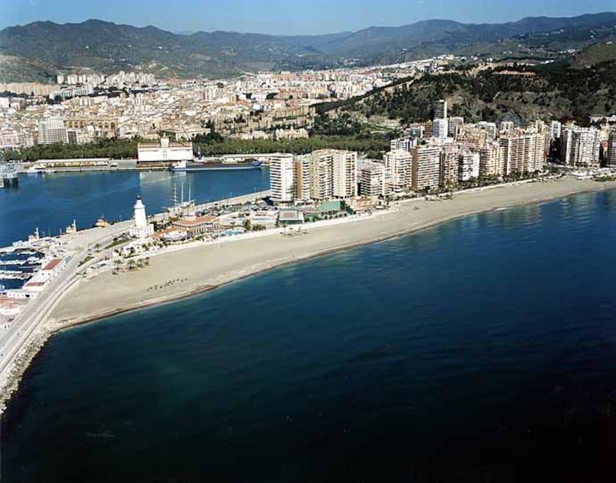 Otra vista aérea de La Malagueta