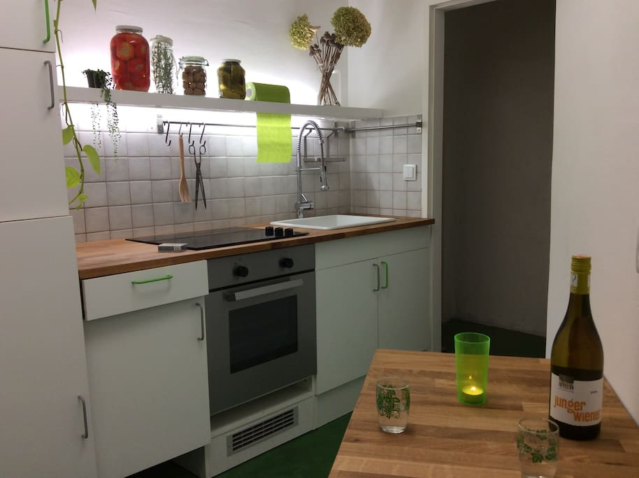 the cosy garden-style kitchen