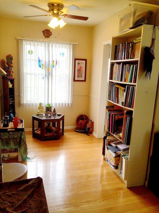 Sunny spot for morning yoga,reading or meditation