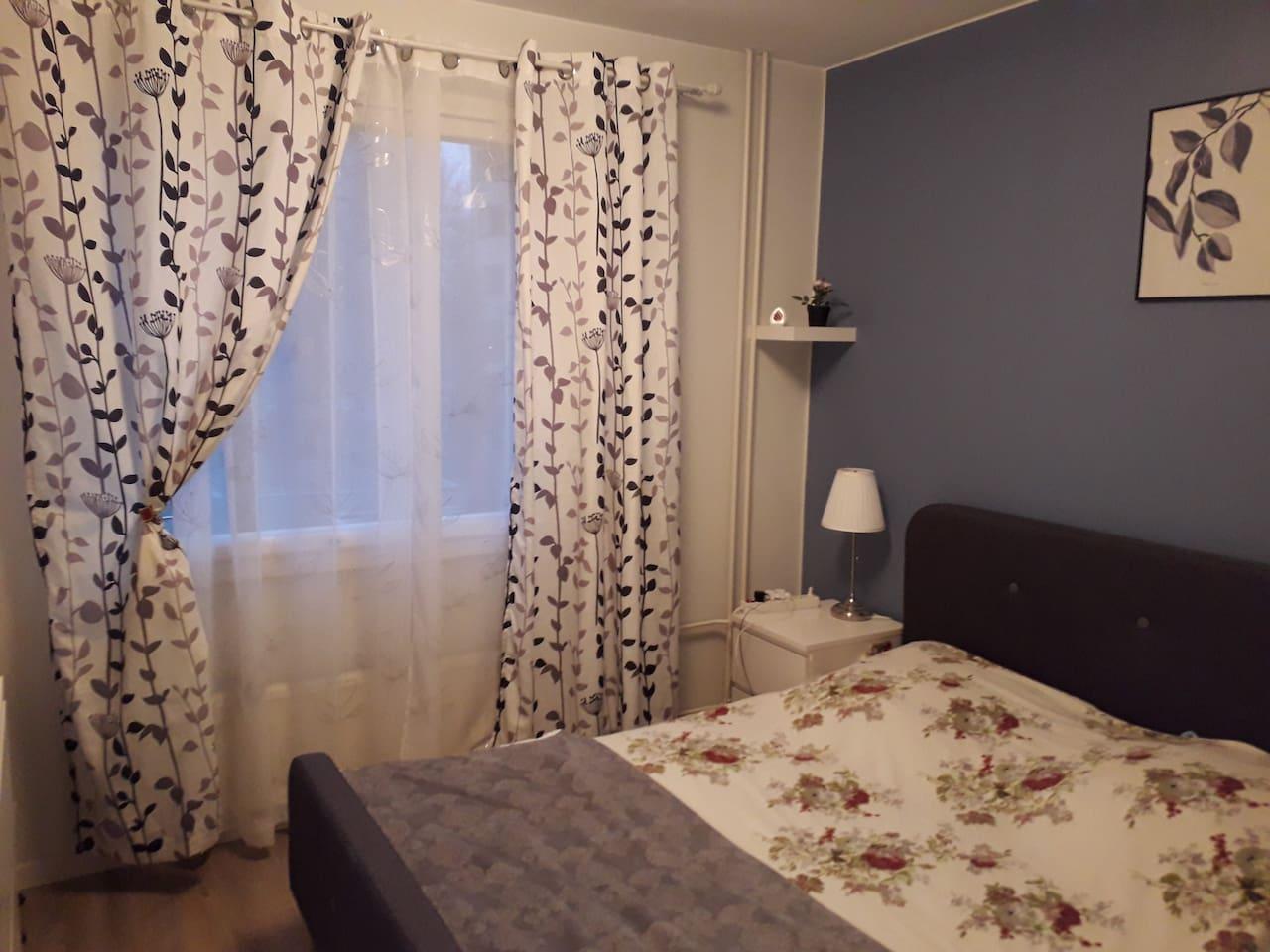 Clean separate bedroom